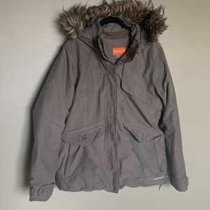 Merrell brown hooded winter ski jacket size large
